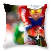 Cyclist Three Throw Pillow