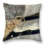 Cyclists Abstract Throw Pillow