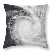 Cyclone Zoe In The South Pacific Ocean Throw Pillow