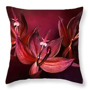 Cycnoches Cooperi Flowers Throw Pillow