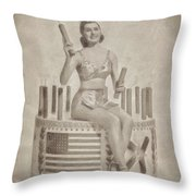 Cyd Charisse Hollywood Actress, Pinup And Dancer Throw Pillow