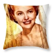 Cyd Charisse, Vintage Hollywood Legend Throw Pillow