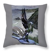 Cygnet On Hwy One Ca Throw Pillow
