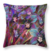 Cymbidium Carnival Throw Pillow