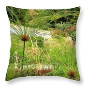 Cyperus Papyrus - Bulrush Throw Pillow