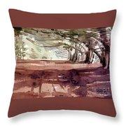 Cypress At Moss Beach Throw Pillow