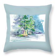 Cypress At San Pedro Center Throw Pillow