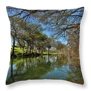 Cypress Bend Park Reflections Throw Pillow