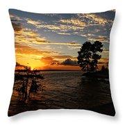 Cypress Bend Resort Sunset Throw Pillow