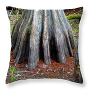 Cypress Footprint Throw Pillow