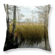 Cypress Landscape Throw Pillow