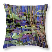 Cypress Pond Tranquility Throw Pillow