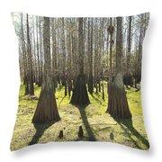 Cypress Sentinals Throw Pillow