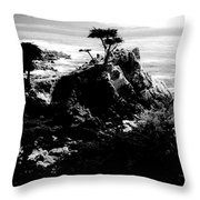 Cypress Trees Throw Pillow