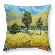 Cypresses At Lydenburg Throw Pillow
