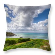 Cyprus Spring Seascape And Landscape Throw Pillow