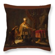 Cyrus Before The Idol Bel  Throw Pillow
