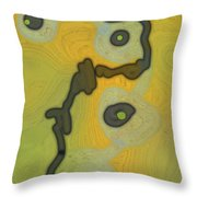 Cyto Yellow Throw Pillow