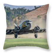 D-day Doll On Veterans Day 2 Throw Pillow