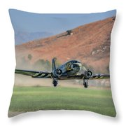 D-day Doll On Veterans Day 3 Throw Pillow