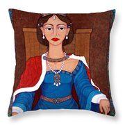 D. Leonor Telles - A Story Of Loves And Hates  A Story Of Power Throw Pillow