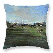 D P World Tour Championship - 18th Tee Throw Pillow