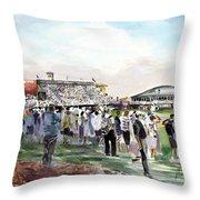 D P World Tour Championship Sketch Throw Pillow