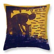 D U Rounds Project, Print 25 Throw Pillow