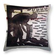D U Rounds Project, Print 8 Throw Pillow
