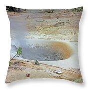 D01945 Sulpher Cauldron Area Throw Pillow