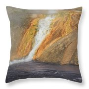 D09126 Outlet Of Midway Geyser Basin Throw Pillow