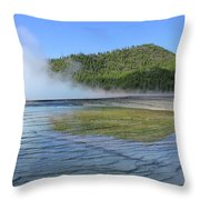 D09127 Reflection In Grand Prismatic Spring Throw Pillow