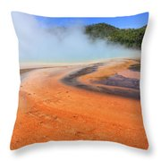 D09132 Colorful Grand Prismatic Spring Throw Pillow