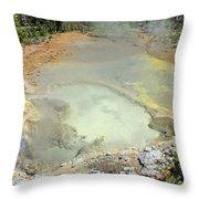 D09146 Sulpher Cauldron Area 2 Throw Pillow
