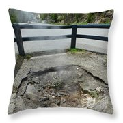 D09149 Sulphur Vent Broke Through Pavement Throw Pillow