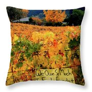 D8b6314 Autumn At Jack London Vinyard With Thanks To Firefighters Ca Throw Pillow