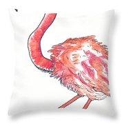 Da Flamingo Throw Pillow