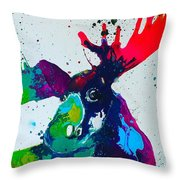 Da-moose Throw Pillow