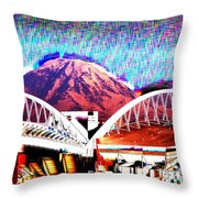 Da Mountain And Stadia 2 Throw Pillow