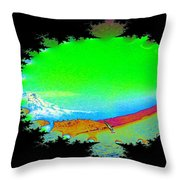 Da Mountain Sail In Fractal Throw Pillow