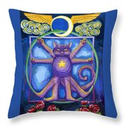 Da Vinci Cat Throw Pillow