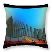 Da Vinci's Outpost Throw Pillow