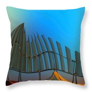 Da Vinci's Outpost Throw Pillow by Wendy J St Christopher