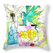Dabs And Coffee  Throw Pillow