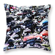 Harley-davidson Rally Throw Pillow