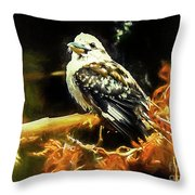 Kookaburra Kingfisher Dacelo-novaeguineae Throw Pillow