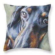 Dachshund Black And Tan Throw Pillow