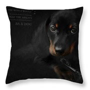Dachshund - Puppy Love Throw Pillow