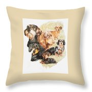 Dachshund Revamp Throw Pillow