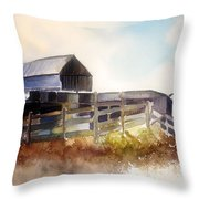 Dad' Farmhouse Throw Pillow